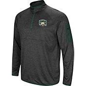 Colosseum Men's Ohio Bobcats Grey Amnesia Quarter-Zip Shirt