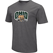Colosseum Men's Ohio Bobcats Grey Dual Blend T-Shirt