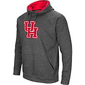Colosseum Men's Houston Cougars Grey Fleece Pullover Hoodie