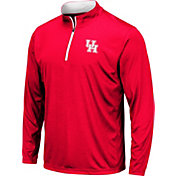 Colosseum Men's Houston Cougars Red Embossed Quarter-Zip Performance Shirt