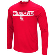 Colosseum Men's Houston Cougars Red Long Sleeve Performance T-Shirt