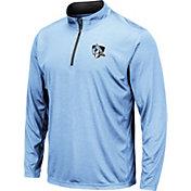 Colosseum Men's Johns Hopkins Blue Jays Blue Embossed Quarter-Zip Performance Shirt