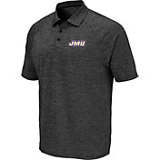 Colosseum Men's James Madison Dukes Grey Polo