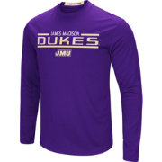 Colosseum Men's James Madison Dukes Purple Long Sleeve Performance T-Shirt