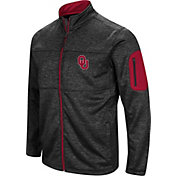 Colosseum Men's Oklahoma Sooners Glacier Full-Zip Black Jacket