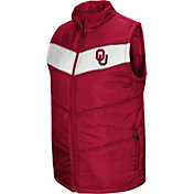 Colosseum Men's Oklahoma Sooners Crimson Red Beauleiu Full-Zip Vest