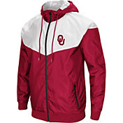 Colosseum Men's Oklahoma Sooners Crimson/Cream Galivanting Full Zip Jacket
