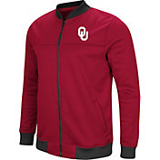 Colosseum Men's Oklahoma Sooners Crimson Sack The QB Full-Zip Bomber Jacket