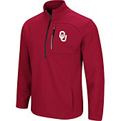 Colosseum Men's Oklahoma Sooners Crimson Townie Half-Zip Jacket