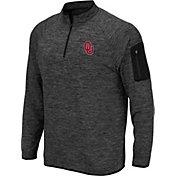 Colosseum Men's Oklahoma Sooners Grey Quarter-Zip Shirt
