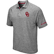 Colosseum Men's Oklahoma Sooners Grey Chip Shot Polo