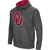 Colosseum Men's Oklahoma Sooners Grey Fleece Pullover Hoodie