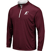 Colosseum Men's Eastern Kentucky Colonels Maroon Embossed Quarter-Zip Performance Shirt