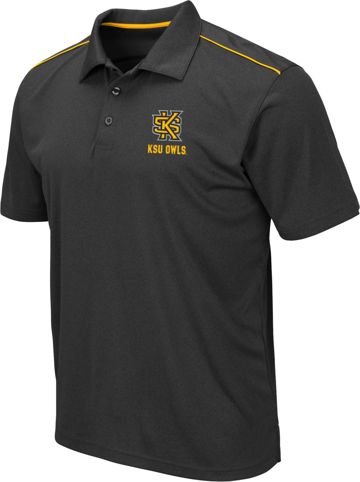 Colosseum Men's Kennesaw State Owls Eagle Black Polo