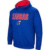 Colosseum Men's Kansas Jayhawks Blue Fleece Pullover Hoodie