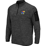 Colosseum Men's Kansas Jayhawks Grey Quarter-Zip Shirt