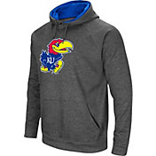 Colosseum Men's Kansas Jayhawks Grey Fleece Pullover Hoodie