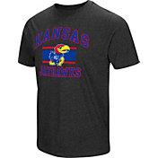 Colosseum Men's Kansas Jayhawks Grey Tri-Blend T-Shirt