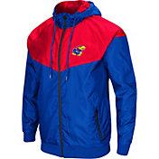 Colosseum Men's Kansas Jayhawks Blue/Crimson Galivanting Full Zip Jacket