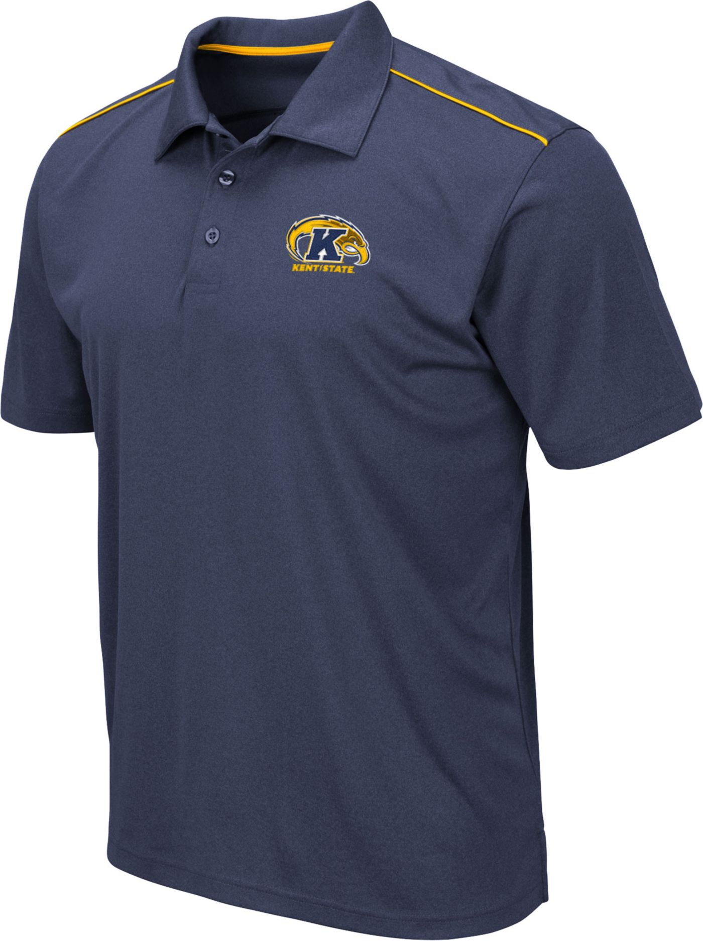 Colosseum Men's Kent State Golden Flashes Navy Blue Eagle Polo