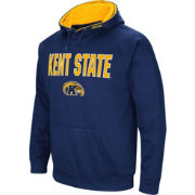 Colosseum Men's Kent State Golden Flashes Navy Blue Fleece Pullover Hoodie