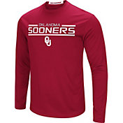 Colosseum Men's Oklahoma Sooners Crimson Long Sleeve Performance T-Shirt