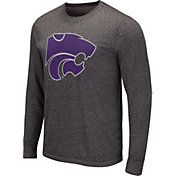 Colosseum Men's Louisville Cardinals Grey Long Sleeve T-Shirt