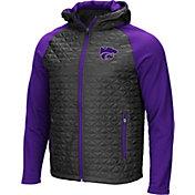Colosseum Men's Kansas State Wildcats Grey/Purple Baseplate Full-Zip Jacket