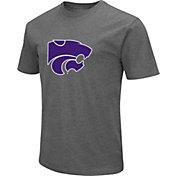 Colosseum Men's Kansas State Wildcats Grey Dual Blend T-Shirt