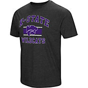 Colosseum Men's Kansas State Wildcats Grey Tri-Blend T-Shirt