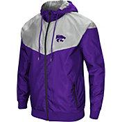 Colosseum Men's Kansas State Wildcats Purple/Grey Galivanting Full Zip Jacket