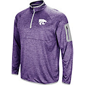 Colosseum Men's Kansas State Wildcats Purple Amnesia Quarter-Zip Shirt