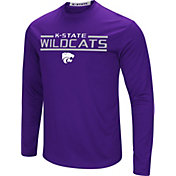 Colosseum Men's Kansas State Wildcats Purple Long Sleeve Performance T-Shirt