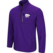 Colosseum Men's Kansas State Wildcats Purple Townie Half-Zip Jacket