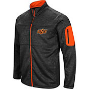 Colosseum Men's Oklahoma State Cowboys Glacier Full-Zip Black Jacket