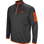 Colosseum Men's Oklahoma State Cowboys Grey Amnesia Quarter-Zip Shirt