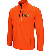 Colosseum Men's Oklahoma State Cowboys Orange Townie Half-Zip Jacket