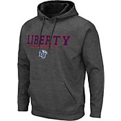 Colosseum Men's Liberty Flames Grey Pullover Hoodie