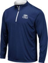 ddf24723071 Colosseum Men  39 s Old Dominion Monarchs Blue Embossed Quarter-Zip  Performance Shirt