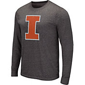 Colosseum Men's Indiana Hoosiers Grey Long Sleeve T-Shirt