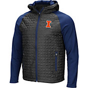 Colosseum Men's Illinois Fighting Illini Grey/Blue Baseplate Full-Zip Jacket