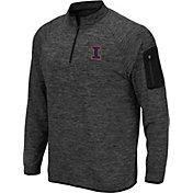 Colosseum Men's Illinois Fighting Illini Grey Quarter-Zip Shirt