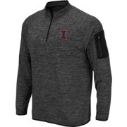 Colosseum Men's Illinois Fighting Illini Grey Quarter-Zip Shirt