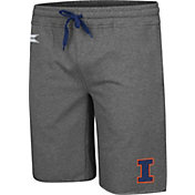 Colosseum Men's Illinois Fighting Illini Grey Farmer Fran French Terry Shorts