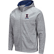 Colosseum Men's Illinois Fighting Illini Grey Full-Zip Hoodie