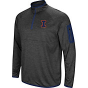 Colosseum Men's Illinois Fighting Illini Grey Amnesia Quarter-Zip Shirt