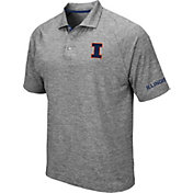 Colosseum Men's Illinois Fighting Illini Grey Chip Shot Polo