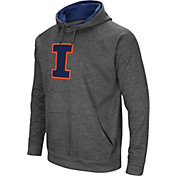 Colosseum Men's Illinois Fighting Illini Grey Fleece Pullover Hoodie