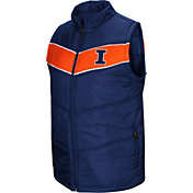Colosseum Men's Illinois Fighting Illini Blue Red Beauleiu Full-Zip Vest
