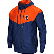 Colosseum Men's Illinois Fighting Illini Blue/Orange Galivanting Full Zip Jacket